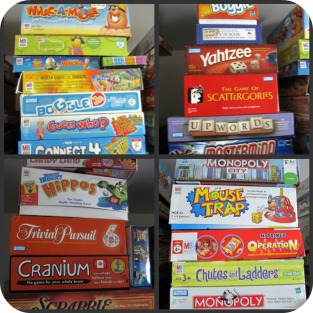 Stacks of Games for the whole Family